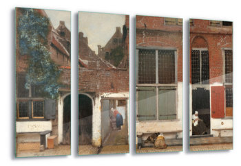 Tablouri pe sticla  The Little Street, Vermeer