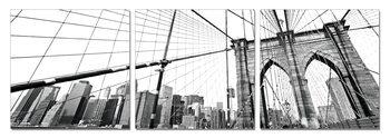 New York - Brooklyn Bridge detail (B&W)  Tablou