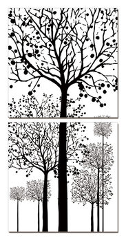 Painted Trees Tablou