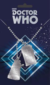 Targhetta Doctor Who - Tardis and Dalek