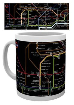 Tasse Transport For London – Black Map