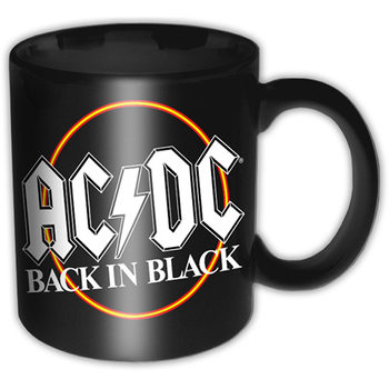 AC/DC - Back In Black Circle Black Tasse