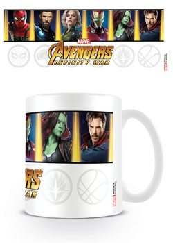 Avengers Infinity War - Characters and Emblems Tasse