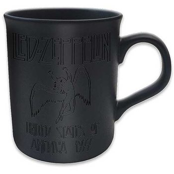 Led Zeppelin - 77 Tour Matt Black Tasse