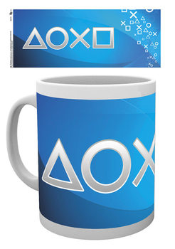 Playstation - Silver Buttons Tasse
