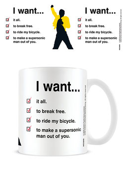 Queen - I Want Checklist Tasse