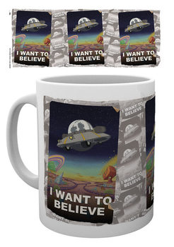 Rick And Morty - I Want To Believe Tasse