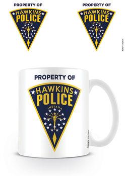 Stranger Things - Hawkins Police Badge Tasse