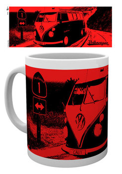 VW Camper - California Red Tasse