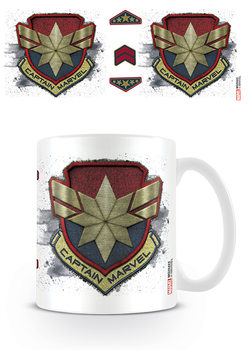 Taza  Captain Marvel - Badge