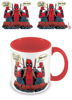 Taza  Deadpool - 2 Thumbs /Red