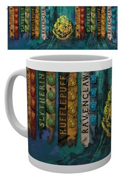 Taza  Harry Potter - House Flags