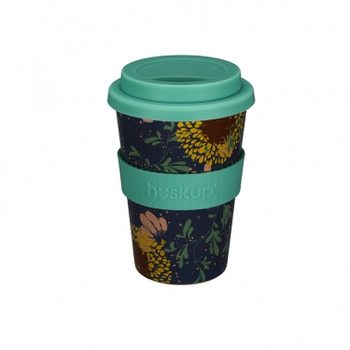 Eco taza Huskup - Teal Sunflower