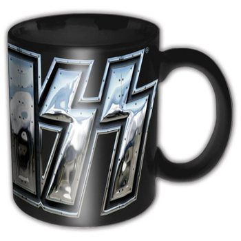 Taza Kiss – Chrome Logo Black