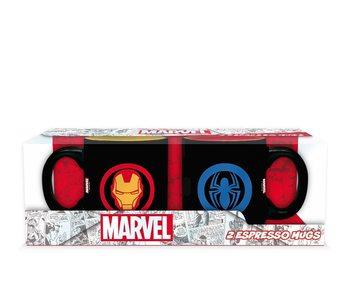 Taza Marvel - Iron Man & Spiderman