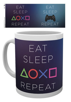 Taza Playstation: Eat - Sleep Repeat