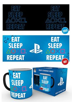 Taza  Playstation - Eat Sleep Repeat