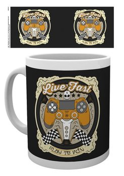 Taza  Playstation - Live fast