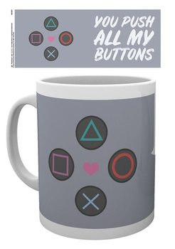 Taza  Playstation - Push my Buttons