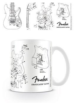 Tazza Fender - Exploding Stratocaster
