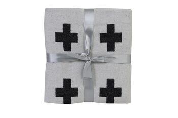 Sengetæppe Joven - Black-White Tekstil