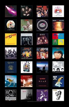 Tekstilni posteri Queen - Albums