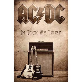 Tekstilni poster AC/DC - In Rock We Trust