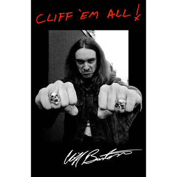 Tekstilni poster Metallica - Cliff 'Em All