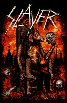 Tekstilni poster  Slayer – Devil On Throne