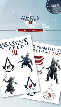 Assassin's Creed III - connor & logos Tetovaža