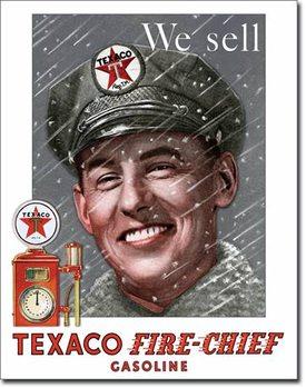 Texaco - Pump Attendant Metalen Wandplaat