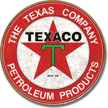 TEXACO - The Texas Company Metalen Wandplaat