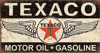 Texaco Winged Logo Metalen Wandplaat