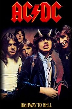 Textiel poster AC/DC – Highway To Hell
