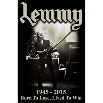Textiel poster Lemmy - Lived To Win