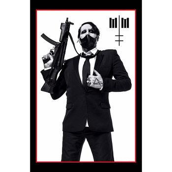 Textiel poster Marilyn Manson - Machine Gun