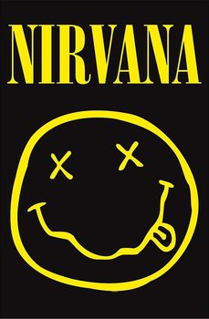 Textiel poster  Nirvana - Smiley