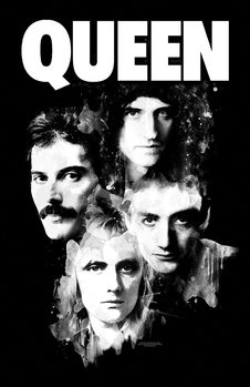 Textiel poster Queen - Faces