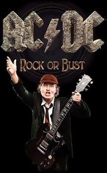 Textil poster AC/DC – Rock Or Bust / Angus