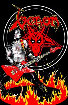 Textil Poszterek Venom - Cronos In Flames