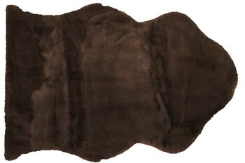 Teppich Sheep - Dark Brown Textil