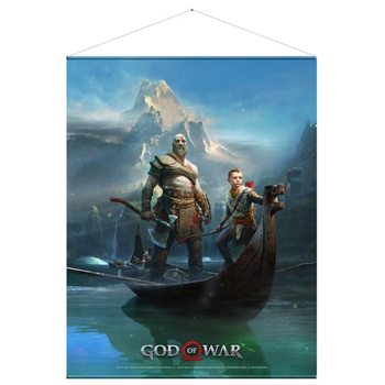 Textile poster  God of War - Father and Son