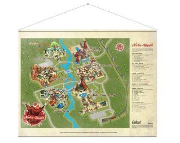 Textilplakat Fallout - Map