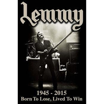 Textilplakat Lemmy - Lived To Win