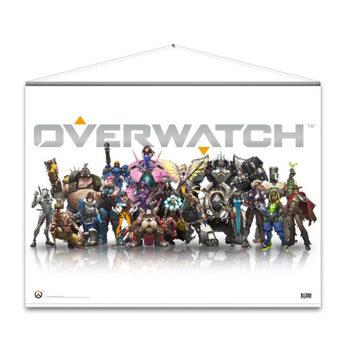 Textilplakat Overwatch - Heroes
