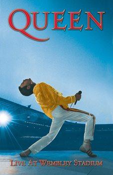 Textilplakat Queen - Wembley