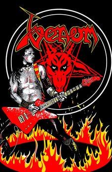 Textilplakat Venom - Cronos In Flames