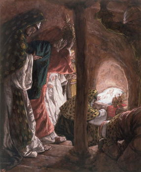 The Adoration of the Wise Men, illustration for 'The Life of Christ', c.1886-94 Festmény reprodukció