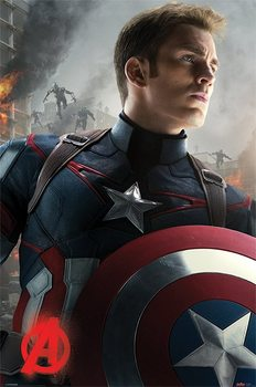 The Avengers: Age Of Ultron - Captain America плакат