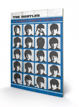 Poster su legno The Beatles - A Hard Day's Night